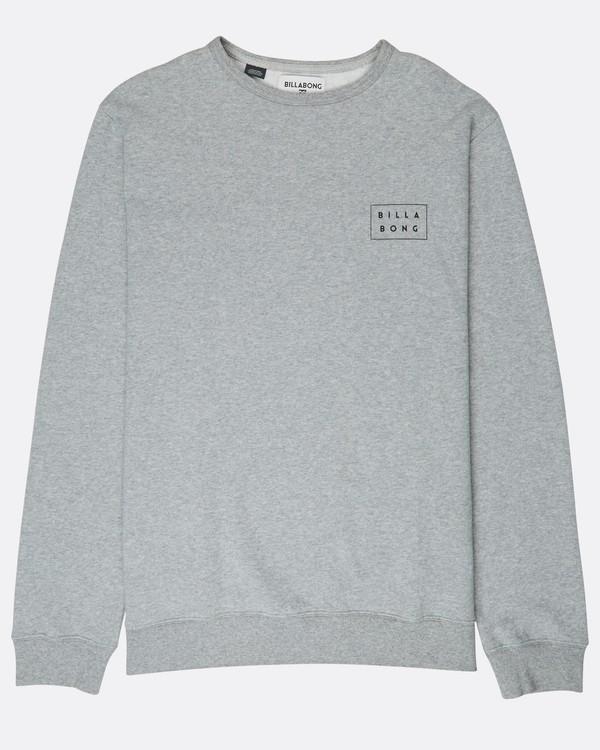 0 Die Cut Theme Crew Sweatshirt Gris L1CR06BIF8 Billabong