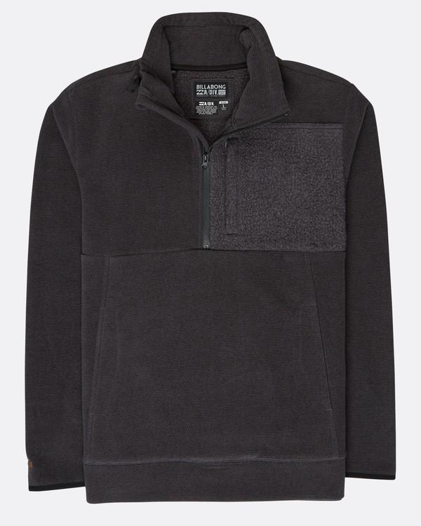 0 Boundary Mock Half Zip Pullover Noir L1FL21BIF8 Billabong