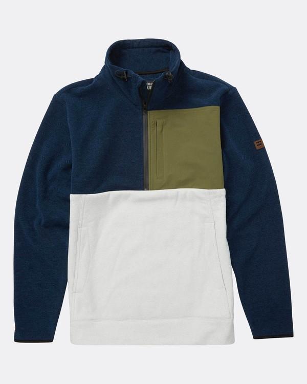 0 Boundary Mock Half Zip Pullover Azul L1FL21BIF8 Billabong