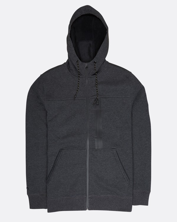 0 Quadrant Polar Fleece Dwr Zip Hoodie Noir L1FL24BIF8 Billabong