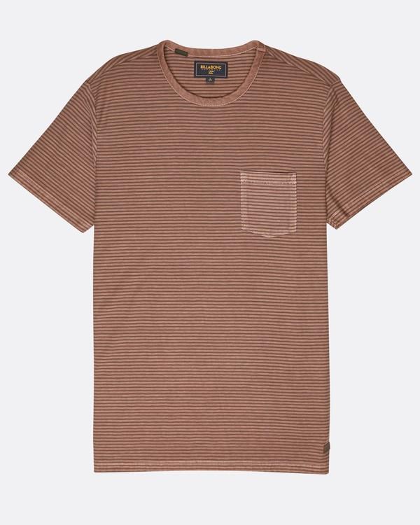 0 Stringer Yarn Dye Stripe T-Shirt Green L1JE01BIF8 Billabong