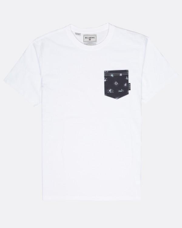 0 All Day Printed Pocket T-Shirt Blanc L1JE02BIF8 Billabong