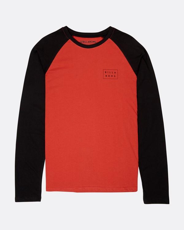 0 Die Cut Long Sleeve T-Shirt Rouge L1LS02BIF8 Billabong
