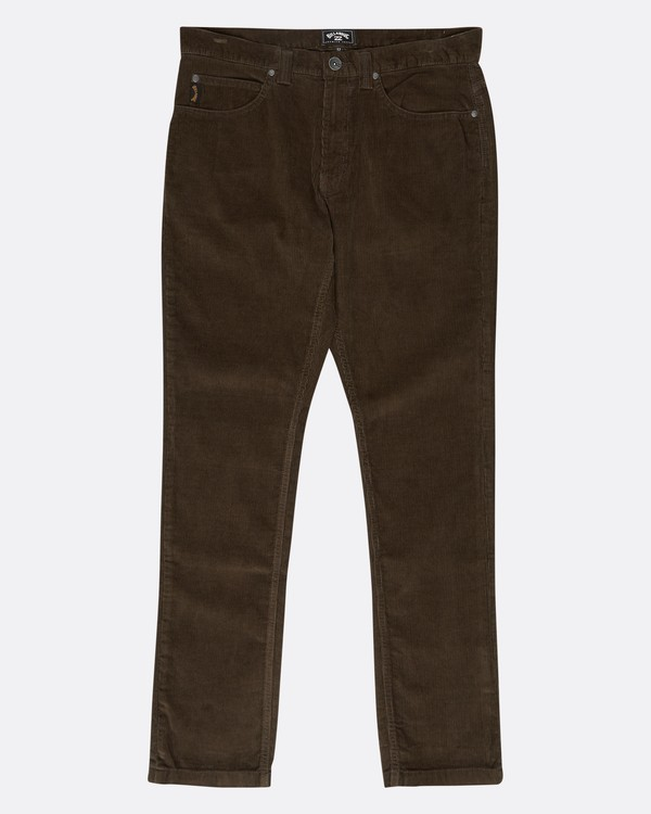 0 Outsider Corduroy Slim Fit Pants Marron L1PT02BIF8 Billabong