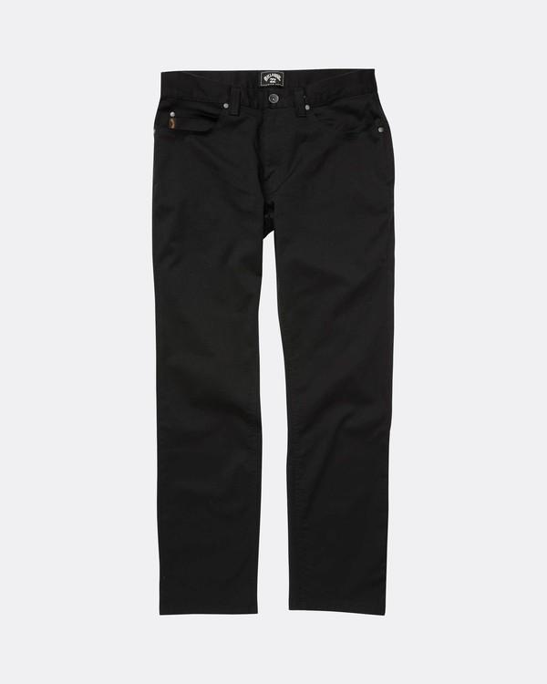 0 Fifty Work Wear Twill Pants Noir L1PT05BIF8 Billabong