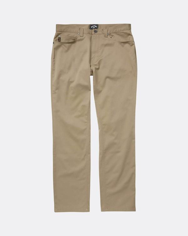0 Fifty Work Wear Twill Pants Vert L1PT05BIF8 Billabong