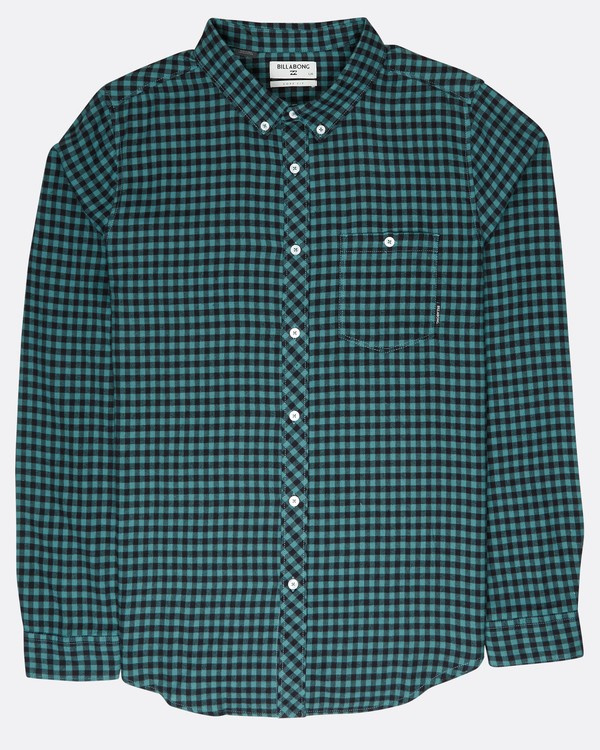 0 Doyle Flannel Long Sleeve Shirt Noir L1SH02BIF8 Billabong