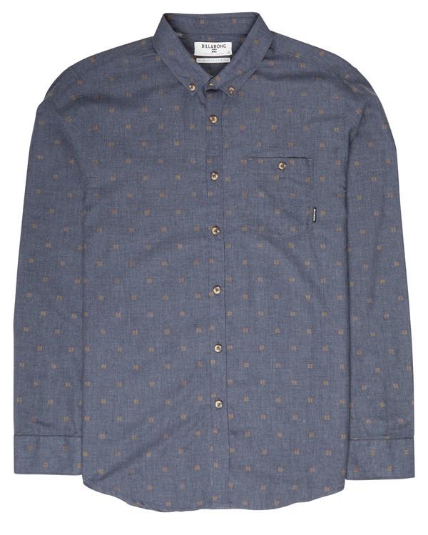 0 All Day Jaquard Long Sleeve Shirt Bleu L1SH10BIF8 Billabong