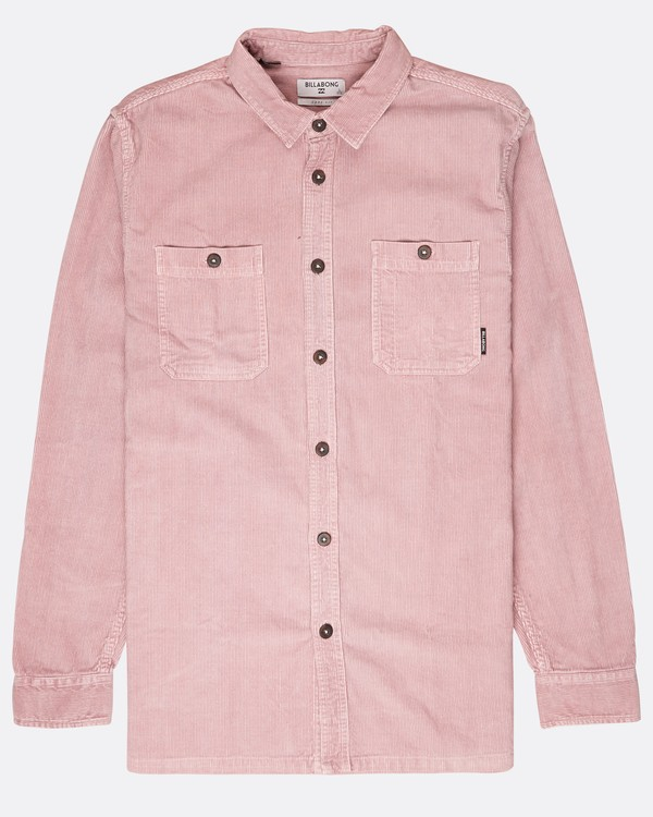 0 Wave Washed Corduroy Shirt Pink L1SH11BIF8 Billabong
