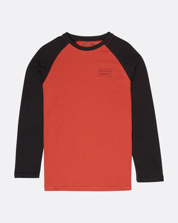 0 Boys Die Cut T-Shirt Rojo L2LS01BIF8 Billabong