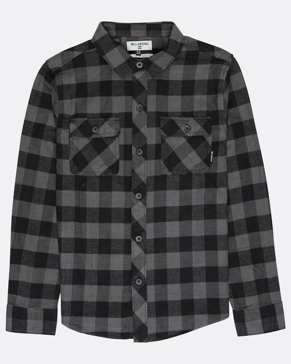 0 Boys All Day Flannel Shirt Negro L2SH01BIF8 Billabong
