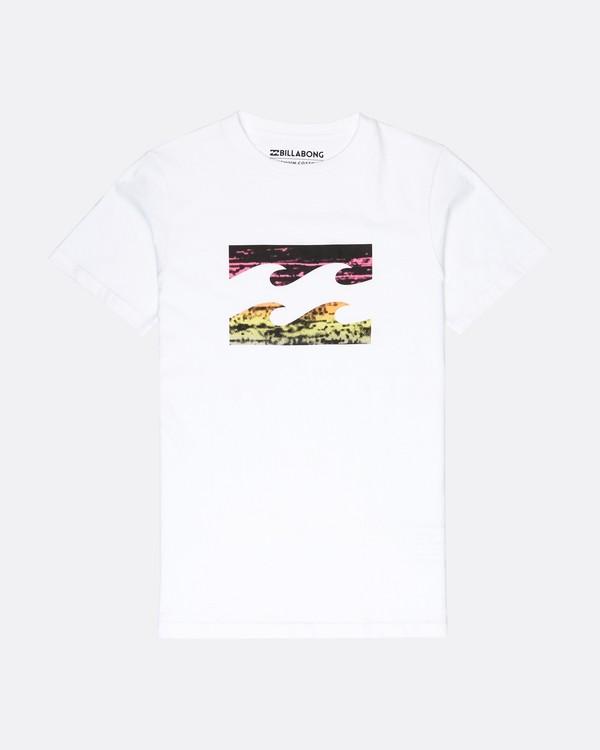 0 Boys Team Wave T-Shirt Blanc L2SS09BIF8 Billabong
