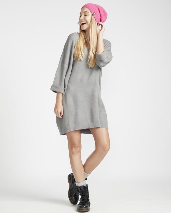 0 Holly Fire Comfy Knitted Dress Gris L3DR12BIF8 Billabong
