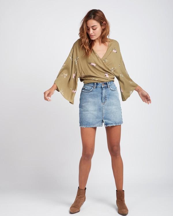 0 Black Magic Slim Fit Denim Skirt Bleu L3SK02BIF8 Billabong