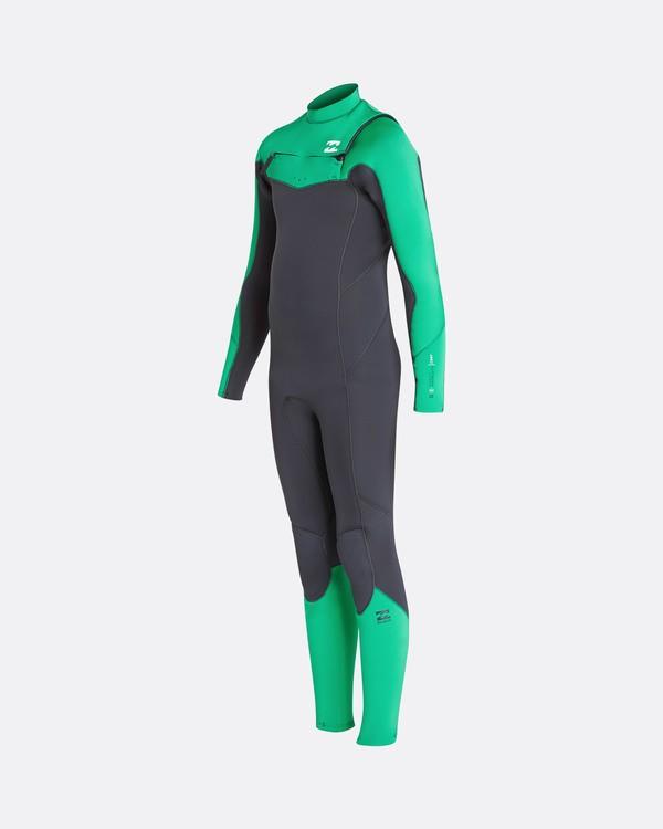 0 3/2 Boys Furnace Absolute Chest Zip Fullsuit Wetsuit Verde L43B05BIF8 Billabong