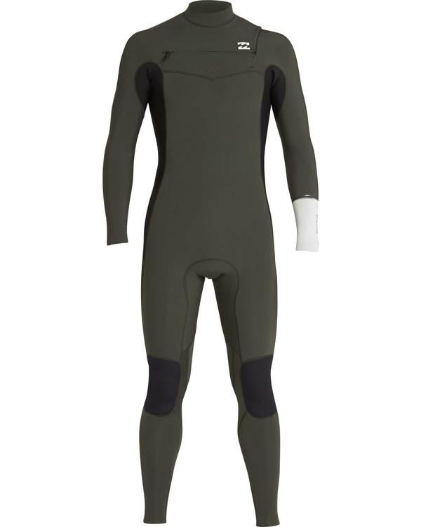 0 3/2 Furnace Revolution Chest Zip Long Sleeves Wetsuit Grün L43M06BIF8 Billabong