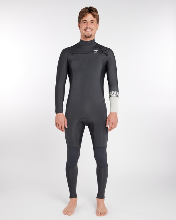 0 3/2 Furnace Revolution Chest Zip Long Sleeves Wetsuit Gris L43M06BIF8 Billabong