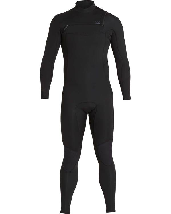0 3/2 Furnace Absolute Chest Zip Gbs Wetsuit Noir L43M09BIF8 Billabong