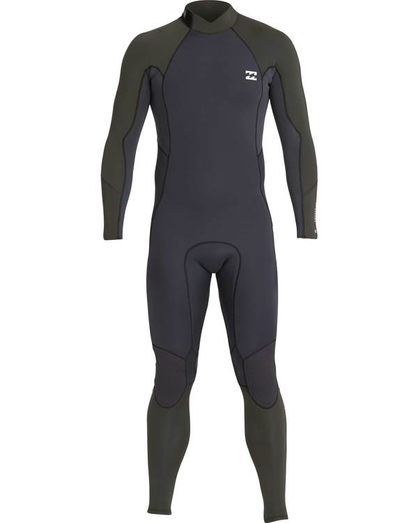 0 3/2 Furnace Absolute Back Zip Gbs Wetsuit Grün L43M10BIF8 Billabong