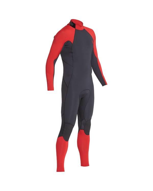 0 3/2 Furnace Absolute Back Zip Gbs Wetsuit Rot L43M10BIF8 Billabong