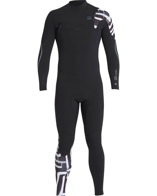 0 3/2 Furnace Carbon Chest Zip Gbs Wetsuit Schwarz L43M26BIF8 Billabong