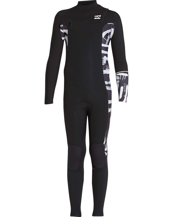 0 4/3 Boys Furnace Revolution Chest Zip Wetsuit Negro L44B04BIF8 Billabong