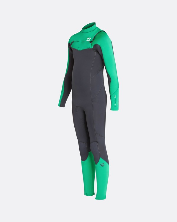 0 4/3 Boys Furnace Absolute Chest Zip Fullsuit Wetsuit Vert L44B05BIF8 Billabong