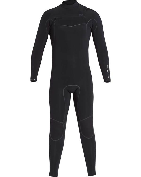 0 4/3 Furnace Carbon Ultra Chest Zip Wetsuit Black L44M01BIF8 Billabong