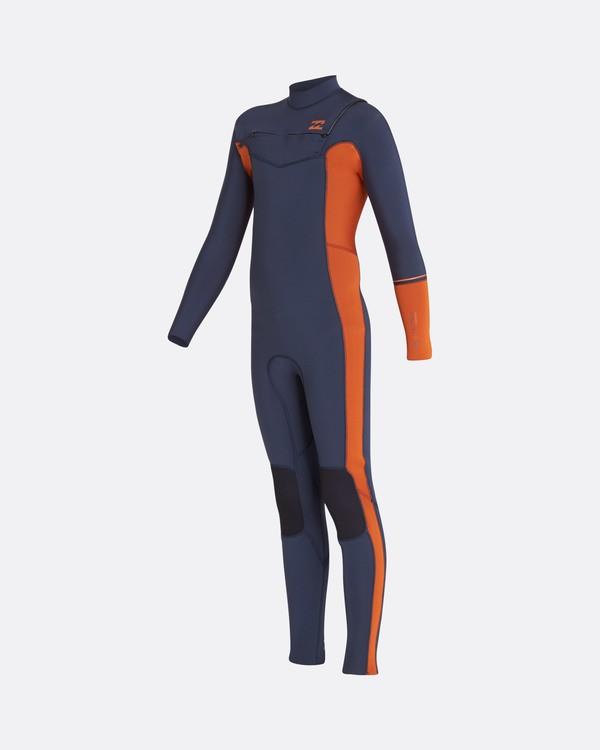 0 5/4 Boys Furnace Revolution Chest Zip Long Sleeves Wetsuit Gris L45B04BIF8 Billabong
