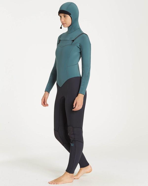 0 5/4 Furnace Synergy Chest Zip Hooded Gbs Wetsuit Beige L45G30BIF8 Billabong