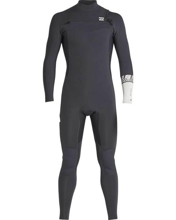 0 5/4 Furnace Revolution Chest Zip Wetsuit Grau L45M06BIF8 Billabong