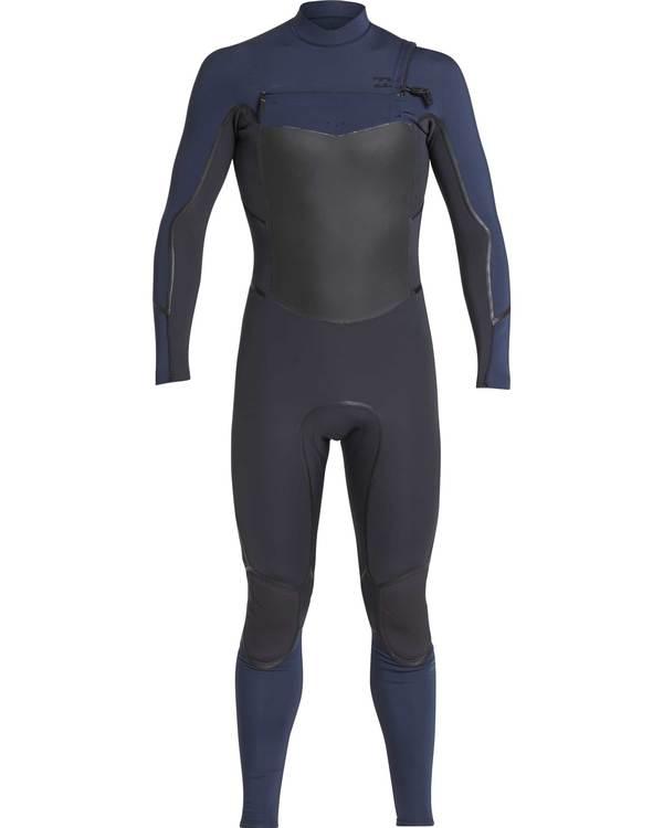 0 5/4 Furnace Absolute X Chest Zip Fullsuit Wetsuit Grau L45M07BIF8 Billabong