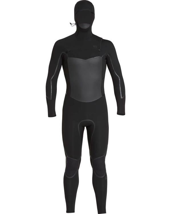 0 5/4 Furnace Absolute X Chest Zip Hooded Wetsuit Schwarz L45M08BIF8 Billabong