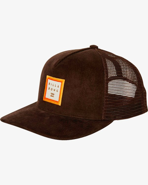 0 Stacked Trucker Hat Marron L5CT02BIF8 Billabong