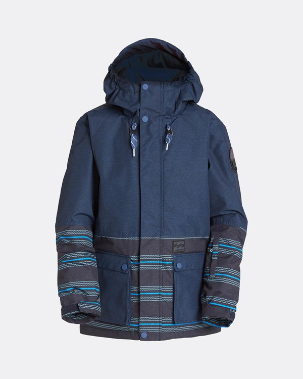 0 Boys Fifty 50 Snow Jacket Blau L6JB02BIF8 Billabong