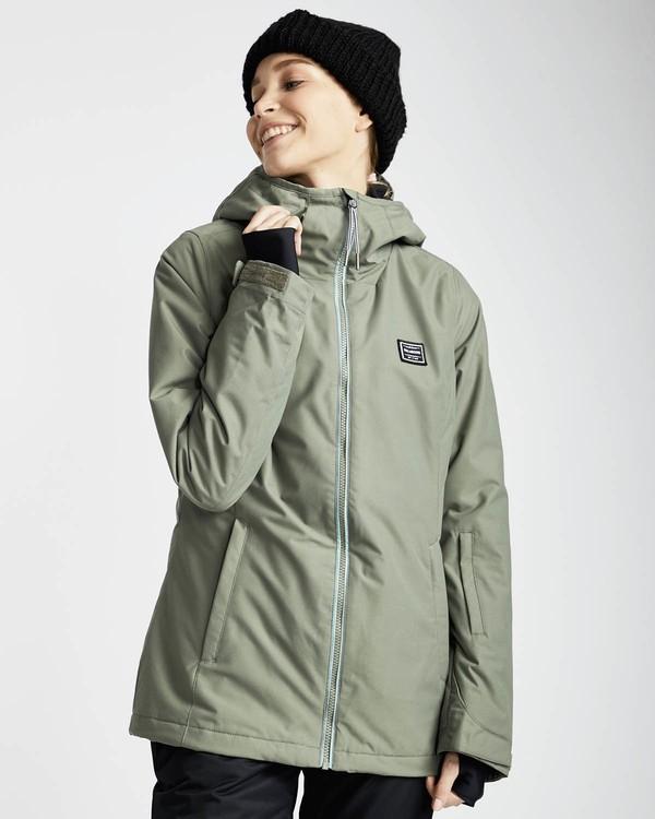 0 Sula Solid Snow Jacket Vert L6JF01BIF8 Billabong