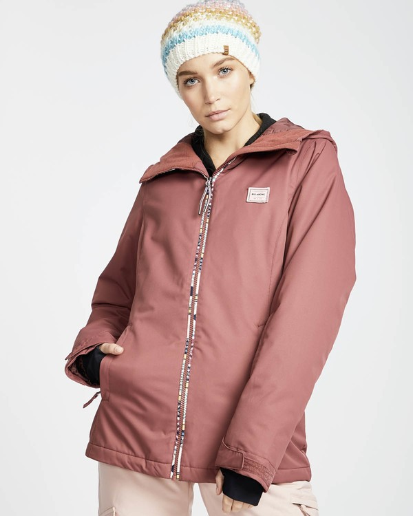 0 Sula Solid Snow Jacket Rot L6JF01BIF8 Billabong