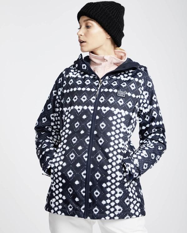 0 Sula Printed Snow Jacket Blau L6JF02BIF8 Billabong