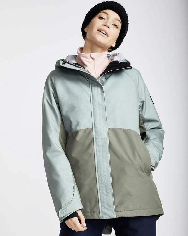 0 Sienna Snow Jacket Grün L6JF06BIF8 Billabong