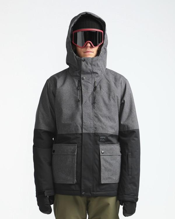 0 Fifty50 10K Snow Jacket Gray L6JM04BIF8 Billabong
