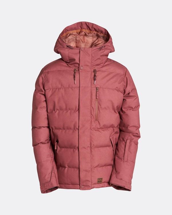 0 Glacier Puffer 10K Snow Jacket Marron L6JM07BIF8 Billabong