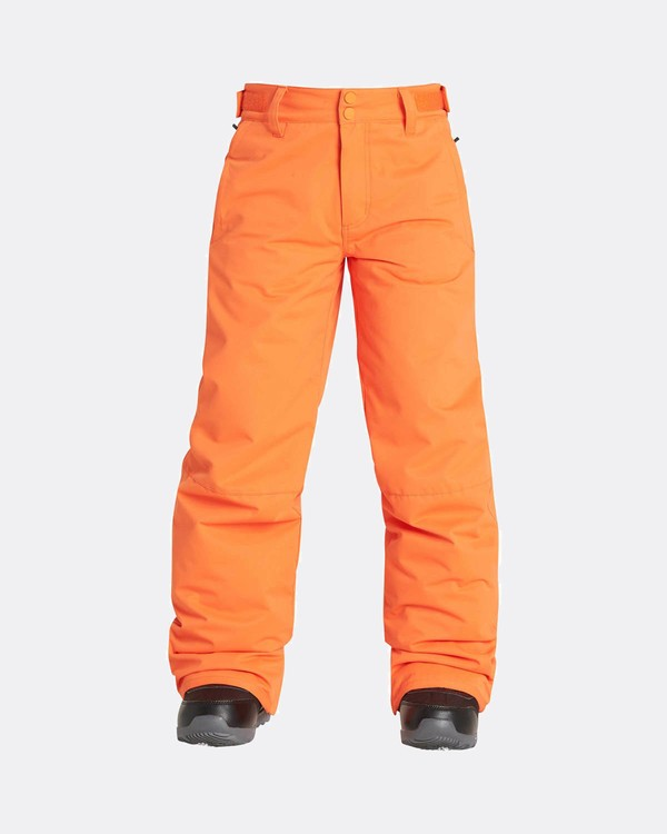 0 Boys Grom Snow Pants Orange L6PB01BIF8 Billabong