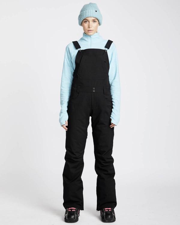 0 Riva Bib 10K Stretch Snow Pants Negro L6PF05BIF8 Billabong