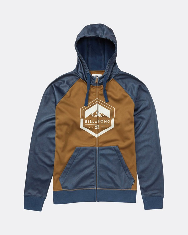 0 Boys Downhill Snow Zip Hoodie Azul L6SL02BIF8 Billabong