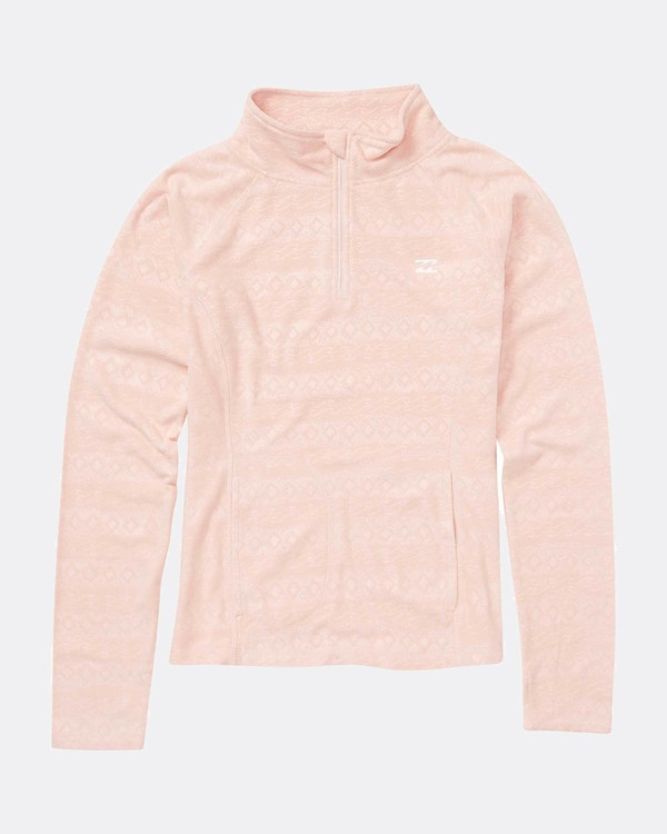 0 Teen Girls Morning Call Half Zip Layer Rose L6SN01BIF8 Billabong
