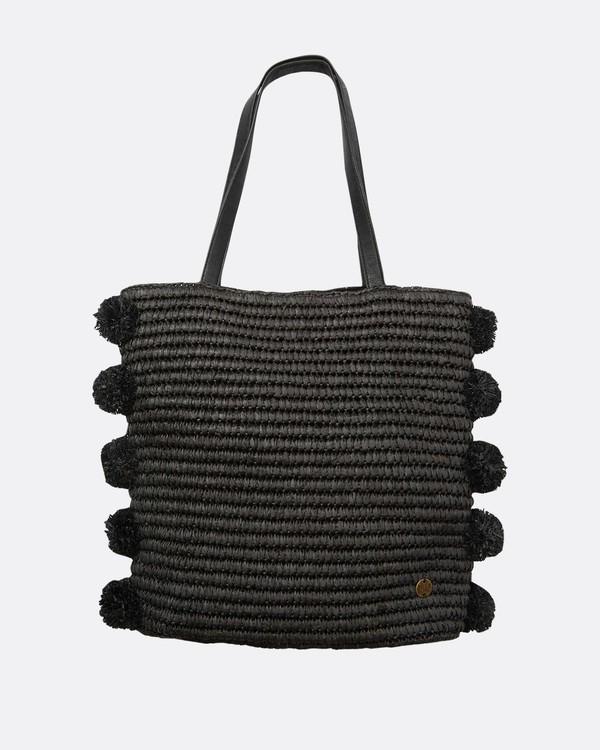 0 Palms Up Large Straw Tote Bag Negro L9BG09BIF8 Billabong