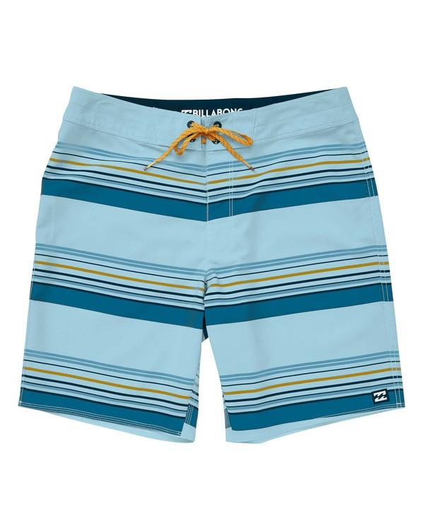 0 Sundays Stripe Pro Boardshorts Blue M124TBSS Billabong