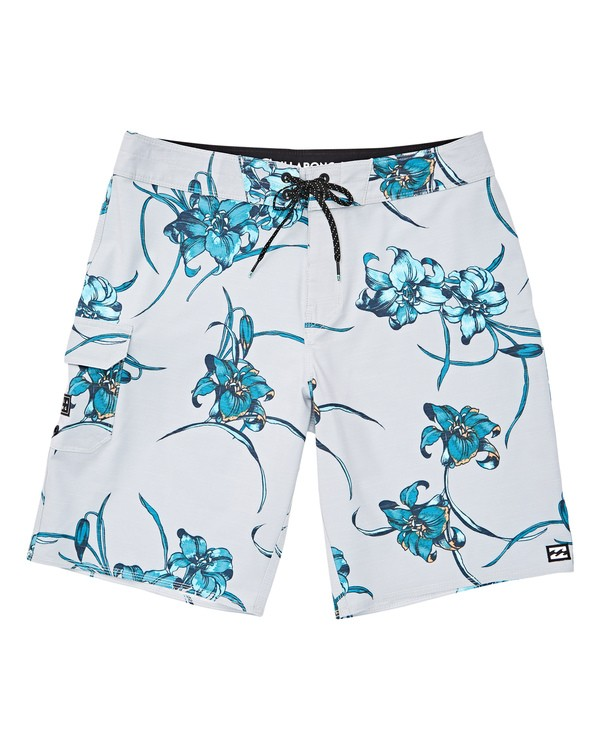 0 All Day Floral Pro Boardshorts Grey M132TBAF Billabong