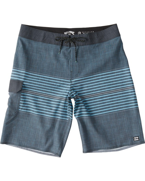 0 All Day Heather Stripe Pro Boardshorts Blue M1331BHP Billabong