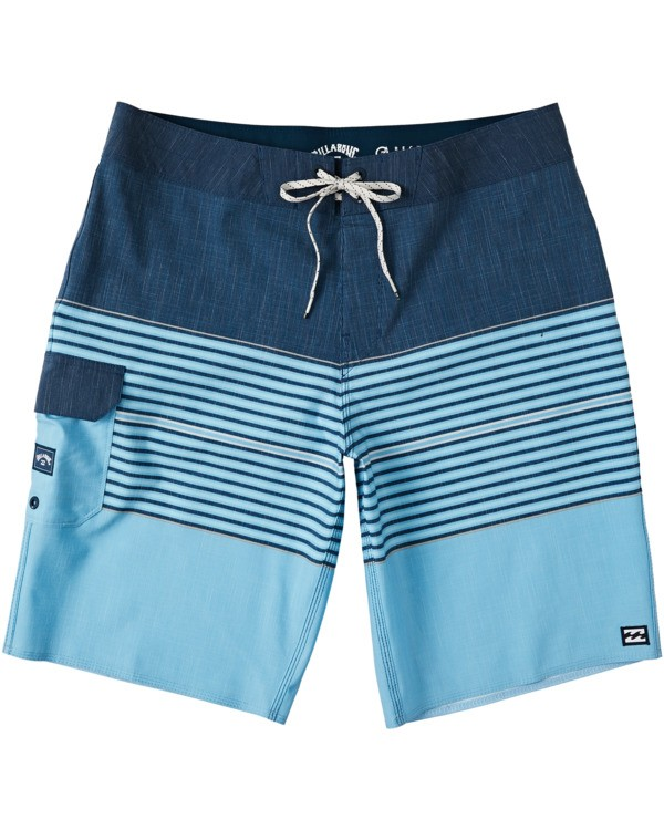 "0 All Day Heather Stripe Pro Boardshort 20"" Blue M1331BHP Billabong"